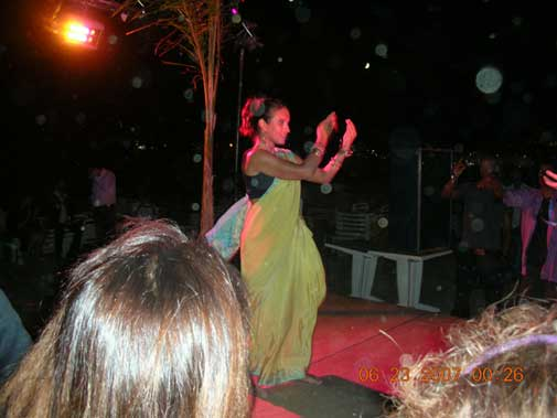 Gori in Sari at the Desi Party