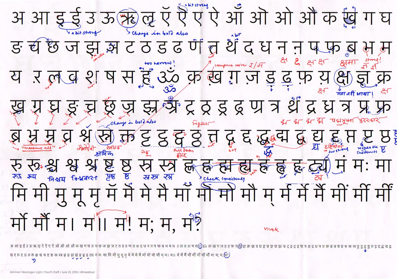 Devanagari Handwriting Satya Rajpurohit : Red...