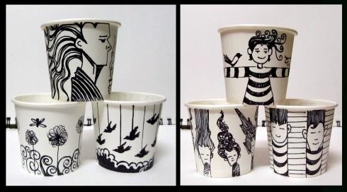 cup doodels