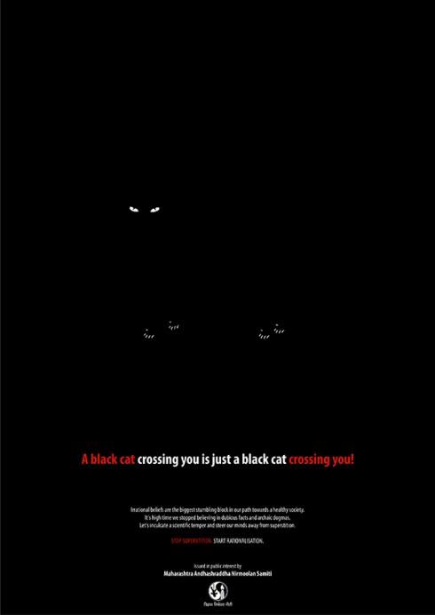 STOP SUPERSTITION - BLACK CAT