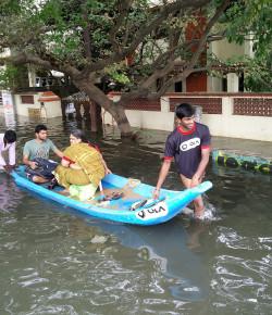 Ola Cabs deploys boats in flood hit Chennai