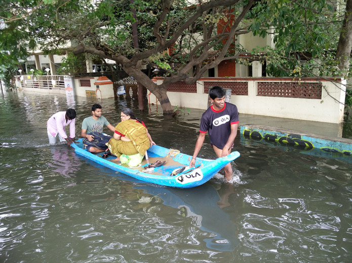 Ola deploys boats in water-logged Chennai
