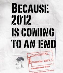 Travel Sketches Calendar 2013 by Doo Creative