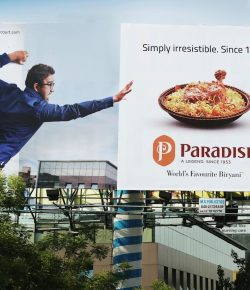 Billboard for Paradise Restaurant by Doo Creative